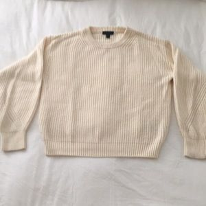 J Crew Cream Knit Sweater | S